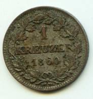 "1 Kreuzer   ""ALLEMAGNE/ BAVARIA""  1860     Argent TTB   VF - [ 1] …-1871 : German States"