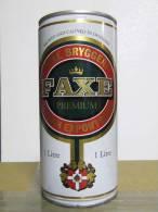 Alt121 Lattina Birra, Boite Biere, Can Beer, Lata Bebidas Cerveza, FAXE Premium, 1lt, 1996, Danish, Danese - Cannettes
