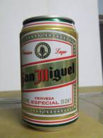 Alt122 Lattina Birra, Boite Biere, Can Beer, Lata Cerveza, San Miguel Lager Especial, 33cl, Spanish, 1995, Spagnola - Cannettes