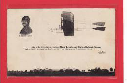 TRANSPORT / AVIATION / Le Célèbre Aviateur René Level Sur Biplan Robert-Savary - Aviatori