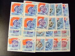RUMANIA ROUMANIE 1964 CONQUISTA Del ESPACIO Y BANDERAS Yvert Nº PA 189 / 198 ** MNH - 1948-.... Republics