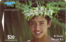 COOK ISLANDS TIARE MAORI GARCON 20$ UT - Telefoonkaarten