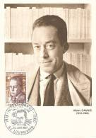 D09020 CARTE MAXIMUM CARD TRIPLE 1960 FRANCE - ALBERT CAMUS CP ORIGINAL - Escritores
