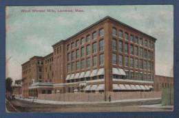 MASSACHUSETTS - CP COLORISEE WOOD WORSTED MILLS - LAWRENCE - F. 10084 METROPOLITAN NEWS & PUB Co BOSTON - CIRCULEE 1909 - Lawrence