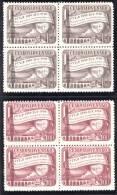 Czechoslovakia Scott # 430-431 Mi 634-635 Yt 548-549 ** 1950 Block Set MNH - Neufs