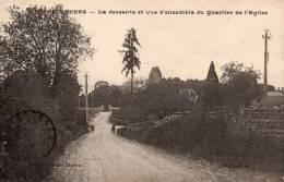 Escrennes - La Descente Et Vue D'ensemble Du Quartier De L'église - Pithiviers