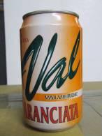 Alt143 Lattina Bibita, Boite Boisson, Can Drink, Lata Bebida, 33cl Val, Valverde, Aranciata, Orange, 1998 Italia - Cannettes