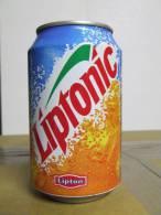 Alt147 Lattina Bibita, Boite Boisson, Can Drink, Lata Bebida, 33cl Liptonic, Lipton Ice Tea, France 1999 - Cannettes