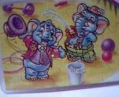 OFFRE 23048A / PUZZLE ELEPHANTS AU CIRQUE 98 + BPZ - Puzzles