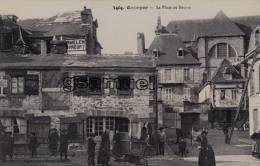 D- 29 - Quimper - La Place Au Beurre Très Animée - (Pub Sur Le Mur Liqueur D'Acey). - (scan Recto-verso). - Quimper