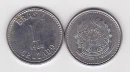 BRASIL  1 CRUZADO  1.988  Acero  KM#605    SC/UNC     DL-10.198 - Brasil