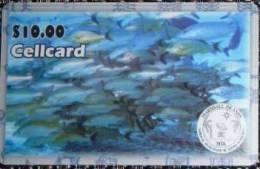 Marshall Islands - MRS-NTA-05, Prepaid Phonecard, 10$, Fishes , Used - Marshall Islands