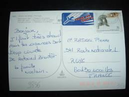 CP PAR AVION POUR LA FRANCE TP 70 BOMBEIROS OBL.21-?-1993 GUARDA - 1910-... República