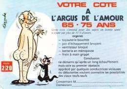 CPSM COTE ARGUS DE L AMOUR  HUMOUR 65 75 ANS DESSIN ALEXANDRE - Humour