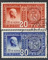 Norway - Norge 1942 UPU Quisling MiNr 274-275 O - Noorwegen