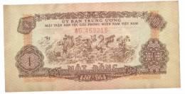 VIETNAM SOUTH - VINTAGE 1 DONG BANKNOTE 1963 YEAR P-R4 - Vietnam