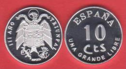 ¡¡¡VERY RARE!!!      ESPAÑA (SPAIN) / ESTADO ESPAÑOL 10 CÉNTIMOS   1.937   Zinc   SC/UNC  DL-10.085  Aust. - [5] 1949-…: Monarchie
