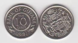 GUYANA  10 CENTIMOS  1.991  CU NI   KM#33  SC/UNC   T-DL-10.201 - Autres – Amérique