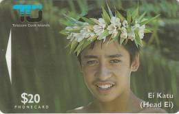 COOK ISL. - Ei Katu/Tiare Maori, CN : 02CID, Tirage 10000, Used - Isole Cook