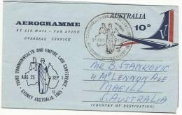 AUSTRALIA ,AEROGRAMME , COMMONWEALT CONF. 1965 - Aerogrammes