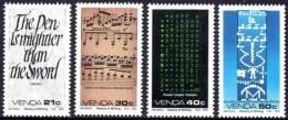 Venda - 1990 History Of Writing Set (**) # SG 203-206 , Mi 204-207 - Venda