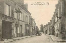 Indre-et-Loire : Nov12 202 : Manthelan  -  Rue Nationale - France