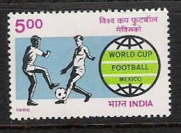 INDIA, 1986, 1986 World Cup Soccer Championship, Football, Mexico, MNH, (**) - India