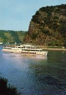 00246 Motorschiff LORELEY An Der Loreley Auf Dem Rhein - Köln-Düsseldorfer KD - Bateaux