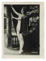 """CHROMO CIGARETTES MELIA ALGER PIN UP : """"Femme En Tenue Guerrière"""" - Melia"""