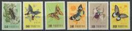 FORMOSE 1958 - Papillon - Neuf, Legere Trace De Charniere (Yvert 249/54) - 1945-... République De Chine