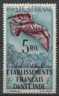INDE Francais 1948 - Oiseau Rapace Aigle - Neuf, Legere Trace De Charniere (Yvert A20) - India (1892-1954)