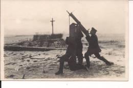 Gouy St Quentin Mitrailleuse Allemande De Dca Carte Photo Allemande  1914-1918 14-18 WWI Ww1 1.wk Poilus - War, Military