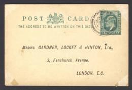 Great Britain 1904, Postcard - Edward VII, Hornsey To London - 1902-1951 (Koningen)