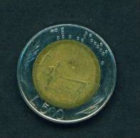 ITALY - 1986 500 Lira Bimetal Circulated As Scan - 1946-… : Republic