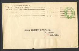 Great Britain 1912, Letter / Cover - Edward VII, London To Leipzig, Germany, C. M. Lampson & Co. - 1902-1951 (Koningen)