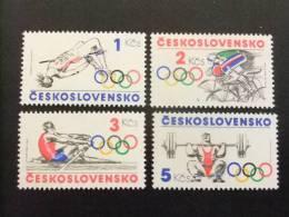 CHECOSLOVAQUIA TCHÉCOSLOVAQUIE 1984 DEPORTES OLIMPICOS Yvert  2600 / 2603 ** MNH - Summer 1984: Los Angeles