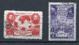 Russia 1950 Sc 1508-9 Used Antarctic Expedition CV $60 - Polar Philately