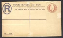 Great Britain, Registered Letter / Cover - Letter Edward VII, Unused - 1902-1951 (Koningen)