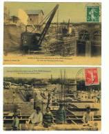 2 Vues  Construction  1908   Usine Hydro_électrique De Thuilières - Châteaux D'eau & éoliennes