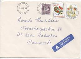 Norway Cover Sent To Denmark Lundavang Molde 20-12-1993 Also With A Christmas Seal - Norwegen