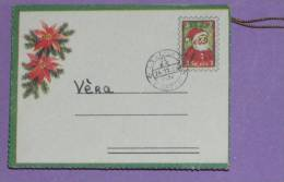 PERE NOEL - ANGE - JOYEUX NOEL - SAPINS - BICHES (3 Scans) ANNEES 1960 - ENVELOPPE 6 Cm X 4,5 Cm - Angels