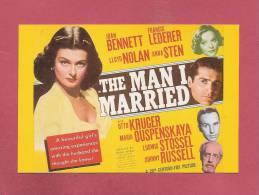 * CPM..Affiche Du Film :  THE  MAN  I  MARRIED  (1940 ) - Affiches Sur Carte