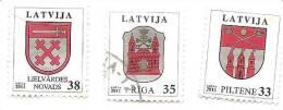 Latvia Lettland Lettonie 2011 / 2012  SMALL CITY LOGO  Piltene , Riga,  Lielvarde Used (0) - Latvia