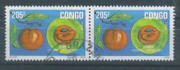 VEND TIMBRES DU CONGO ( BRAZZAVILLE ) N° B1411 EN PAIRE , COTE : ?,?, !!!! - Afgestempeld