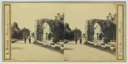 Stéréo 1860-70 Adolphe Braun à Dornach. N° 1587. Arc Aux Alyscamps (Arles). - Stereoscopic