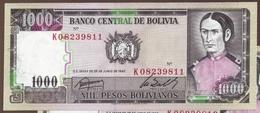 BOLIVIA LOT 2x 1000 PESOS 25.6.1982 SERIE K 8   P# 167 - Bolivia