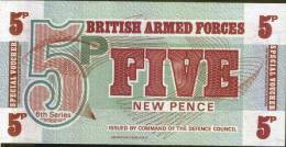 BRITISH ARMED FORCES - 5 New Pence - British Military Authority