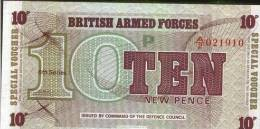 BRITISH ARMED FORCES - 10 New Pence - Autorità Militare Britannica