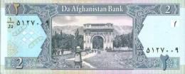 BANCONOTA DELL'AFGANISTAN - 2 Afganis - Afghanistan