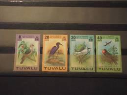 TUVALU - 1978 UCCELLI 4 Valori - NUOVI(++)-TEMATICHE - Tuvalu